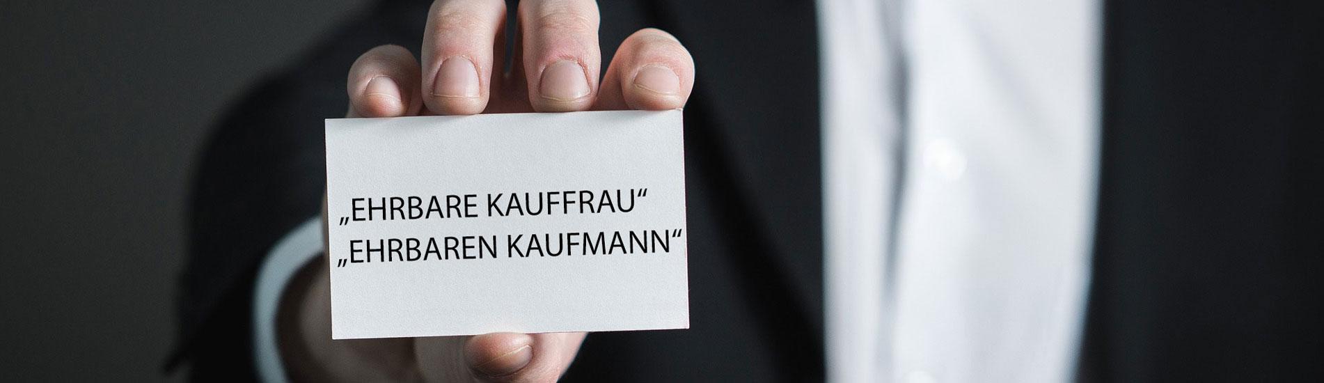 Ehrbare/r Kauffrau/mann